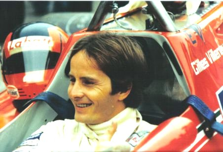 Gilles Villeneuve in abitacolo